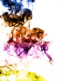 Colored Abstract fume on the white background Stock Photos