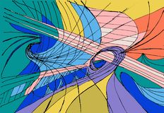 Colored abstract geometrical figures - bright and fun Royalty Free Stock Photos
