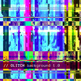 Colored abstract glitch art design background Royalty Free Stock Images