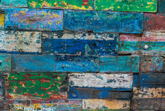 Colored abstract grunge wood texture background from old boat Royalty Free Stock Images