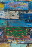 Colored abstract grunge wood texture background from old boat Royalty Free Stock Photography