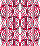 Colored abstract interweave geometric seamless pattern Royalty Free Stock Photography