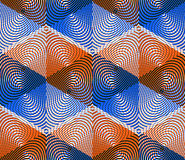 Colored abstract interweave geometric seamless pattern, EPS10. B Stock Image
