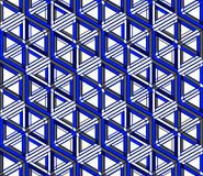 Colored abstract interweave geometric seamless pattern, EPS10. B Stock Photography