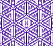 Colored abstract interweave geometric seamless pattern, EPS10. B Stock Photo