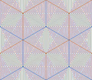 Colored abstract interweave geometric seamless pattern, EPS10. B Royalty Free Stock Photography