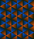 Colored abstract interweave geometric seamless pattern, EPS10.  Stock Image