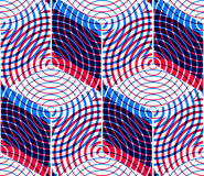 Colored Abstract Interweave Geometric Seamless Pattern, EPS10. B Royalty Free Stock Images
