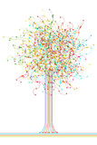 Colored abstract network tree Stock Photography