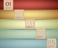 Colored abstract Option Bars Royalty Free Stock Photography