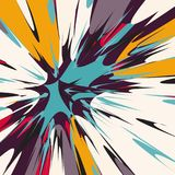 Colored abstract pattern graffiti. Quality vector illustration for your design Stock Image