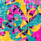 Colored abstract pattern graffiti. Vector eps 10 Royalty Free Stock Image