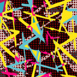 Colored abstract pattern graffiti Royalty Free Stock Photography
