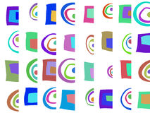 Colored abstract pattern Royalty Free Stock Images