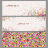Colored abstract rectangle pattern banner set Stock Images