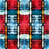 Colored abstract seamless pattern in graffiti style. Quality vector illustration for your design Stock Photo