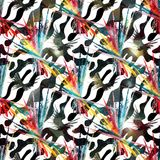 Colored abstract seamless pattern in graffiti style quality vector illustration for your design Stock Photos