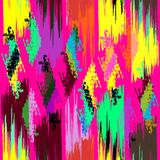 Colored abstract seamless pattern in graffiti style. Quality vector illustration for your design Royalty Free Stock Images