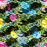 Colored abstract seamless pattern in graffiti style. Quality vector illustration for your design Royalty Free Stock Photo