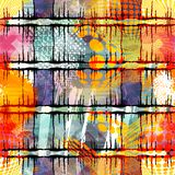 Colored abstract seamless pattern in graffiti style. Quality vector illustration for your design Stock Photography