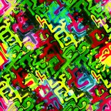 Colored abstract seamless pattern in graffiti style. Quality vector illustration for your design Stock Images