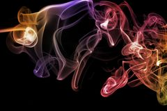 Colored abstract smoke isolated on black background. Colored abstract smoke isolated on black background Stock Images