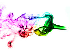 Colored Abstract Smoke over white Royalty Free Stock Photos