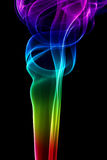 Colored abstract smoke Stock Photography