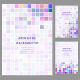 Colored abstract square brochure template design Royalty Free Stock Photos