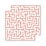 A colored abstract square maze with an entrance and an exit. Simple flat vector illustration isolated on white background. With a. Place for your drawings Stock Photo