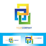 Colored abstract squares logo Royalty Free Stock Photos