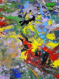 Colored Abstract texture painting  illustrating Royalty Free Stock Photography
