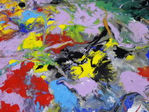 Colored Abstract texture painting  illustrating Royalty Free Stock Images