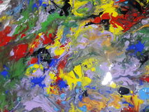 Colored Abstract texture painting  illustrating Royalty Free Stock Photos