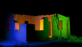 Colored Adobe Fort Ruins Stock Image