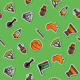 Colored Africa pattern Royalty Free Stock Photo