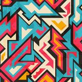 Colored african seamless pattern Royalty Free Stock Photos