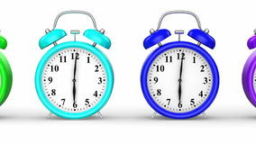 Colored Alarm Clocks Royalty Free Stock Images