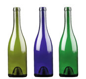 Colored alcohol bottles Royalty Free Stock Images