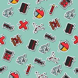 Colored algebra pattern Stock Images