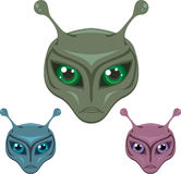 Colored Aliens Royalty Free Stock Image