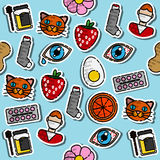 Colored Allergy icon pattern. Vector illustration EPS 10 Royalty Free Stock Photo