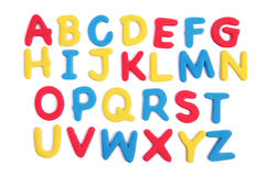 Colored alphabet Stock Images