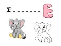 Colored alphabet - E Stock Photo