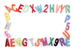 Colored alphabet frame Royalty Free Stock Image