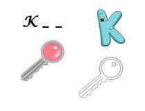 Colored alphabet - K royalty free illustration