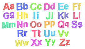 Colored alphabet, large and small  letters, 3D rendering Royalty Free Stock Image