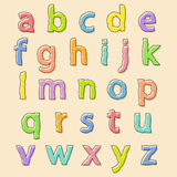 Colored alphabet letters with bloated outline Royalty Free Stock Images