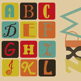 Colored alphabet Stock Photo