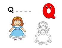 Colored alphabet - Q Stock Image